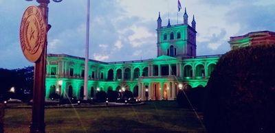 Palacio de López se viste de verde por el Día Internacional del Trasplante de órganos