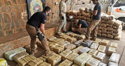Incautaron cerca de 730 kilos de marihuana en Itapúa