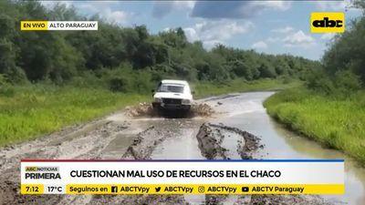 Cuestionan mal uso de recursos en el Chaco