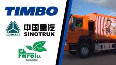 El Farol S.A renueva su flota de camiones para recolección de residuos con dos unidades Sinotruck