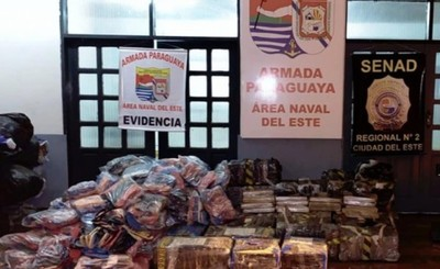 Más de 60kg de marihuana incautados en cercanías al Río Paraná