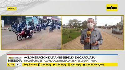 Aglomeración durante sepelio en Caaguazú