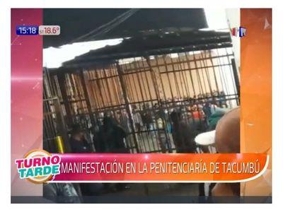 Reclusos de Tacumbú se manifestaron pidiendo visitas