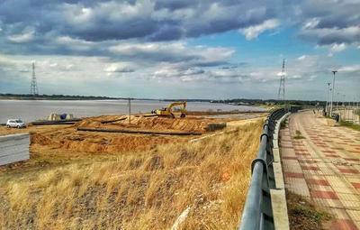 Inició refulado para el Parque Lineal II en la Costanera Norte