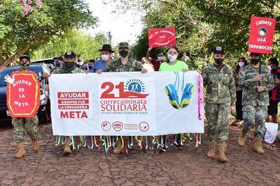 """""""CORRECAMINATA SOLIDARIA"""": CUMPLEN CON ENTREGA DE 10.000 KILOS DE ALIMENTOS."""
