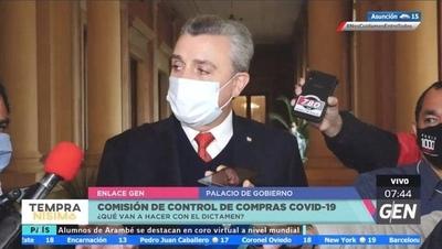 HOY / Juan Ernesto Villamayor, jefe de Gabinete de la Presidencia de la República, sobre dictamen de la Comisión de Control de Compras Covid-19