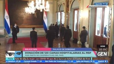 HOY / Ministerio de Salud, recibe la donación de 120 camas hospitalarias por parte de Cooperativas del Paraguay