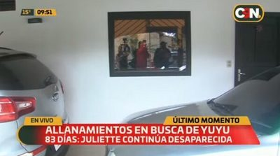 Ejecutan más allanamientos en el caso de Juliette