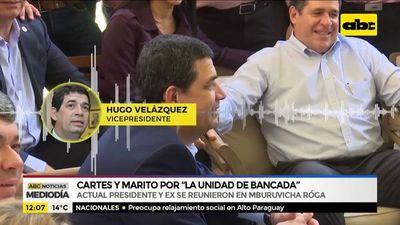 """Cartes y Marito, por """"la unidad de bancada"""""""