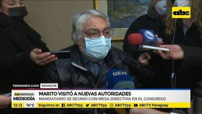 Mario Abdo visitó a nuevas autoridades del Congreso