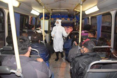Luego de nuestra publicación se ponen a controlar buses de pasajeros