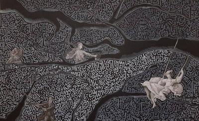 HOY / Sentimientos expresados con líneas y collage, llegan a la galería virtual de La Manzana de la Rivera