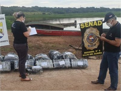 Incautan más de 170 kilos de marihuana a orillas del río Paraná