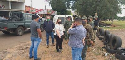 Comerciantes de neumáticos y militares discuten en Pedro Juan Caballero