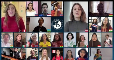 Alumnos de Arambé se destacan en coro mundial