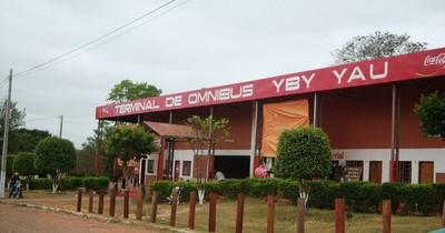 Cierran la terminal de buses de Yby Yaú tras detectar un caso de COVID-19 sin nexo