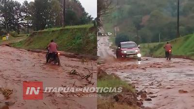 ITAPÚA POTY: IR DESDE SAN BUENAVENTURA HASTA ARROYO CLARO ES TODA UNA ODISEA.
