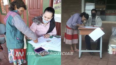 GESTIONAN ANTE EL INDI ASISTENCIA A FAMILIAS INDÍGENAS DE ITAPÚA