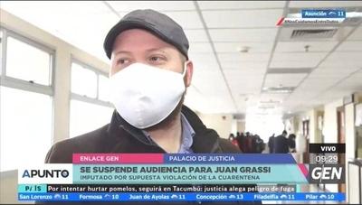 HOY / Se suspende audiencia para Juan Galeano Grassi