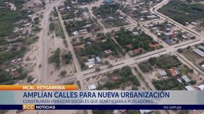 COMUNA DE MCAL. ESTIGARRIBIA REALIZÓ LA APERTURA Y AMPLIACIÓN DE CALLES PARA UNA NUEVA URBANIZACIÓN