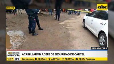 Acribillan a jefe de seguridad del penal de Coronel Oviedo