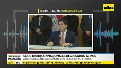 Unos 10.000 connacionales regresaron al país