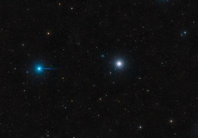 Púlsar raro en colisión de dos estrellas