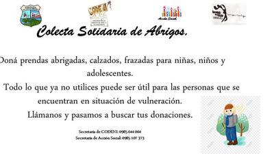 CAMPAÑA DE RECOLECCIÓN DE ABRIGOS EN CAP.  MIRANDA.