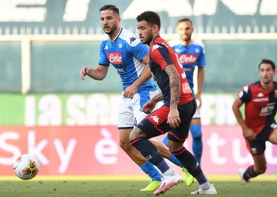 Sanabria fue titular en la derrota del Genoa que ingresa a zona de descenso