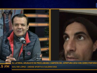 """Walter López: """"Tuve la suerte de jugar en el más grande de Paraguay"""""""