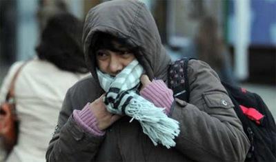 Clima frío y con bajas probabilidades de precipitaciones para este jueves