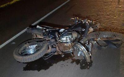 Motociclista muere en brutal choque frontal