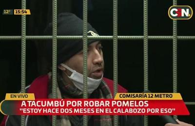 Hombre será trasladado a Tacumbú por robar pomelos