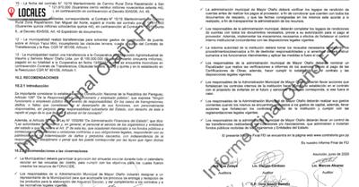 Contraloría concluye fiscalización y recomienda mejorar la gestión en Mayor Otaño