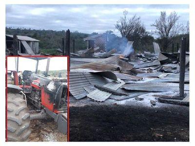Atacan establecimiento y queman maquinarias en Yasy Kañy