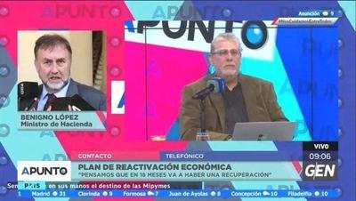 HOY / Benigno López, ministro de Hacienda, sobre plan de reactivación económica