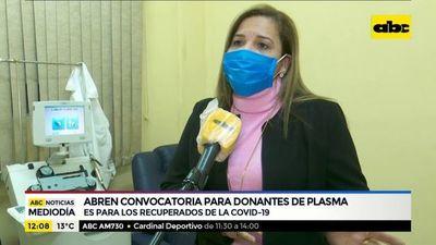 Abren convocatoria para donantes de plasma