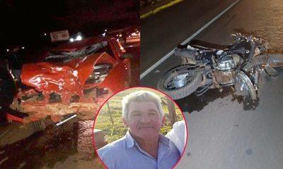 Un motociclista muere arrollado  por automóvil sobre Ruta Py 06 – Diario TNPRESS