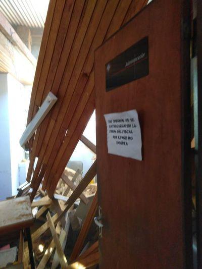 Parte de la Fiscalía de Caazapá se desplomó