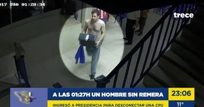 """PLRA: Hijo de Alegre y """"Nito"""" Bogado aparecen en video manipulando computadoras"""