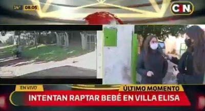 Motochorros intentan raptar a beba en Villa Elisa