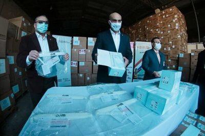 Salud recibe 25 toneladas de insumos médicos