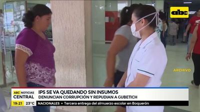 IPS se va quedando sin insumos médicos