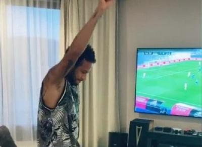 Baile de Neymar tras gol del Real enciende las redes