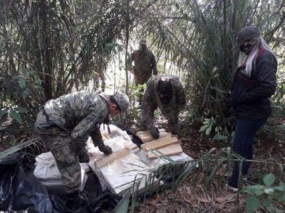 Incautan 500 kilos de marihuana en zona rural de Pedro Juan Caballero