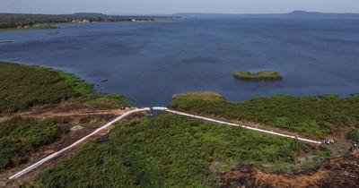 Recuperación del lago Ypacaraí: instalación de geobolsas está muy avanzada