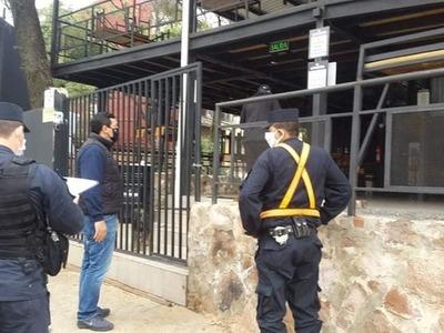 Intervienen local en San Lorenzo tras denuncias de aglomeración