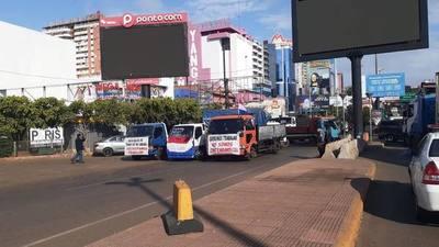 """Protestan contra esquema de CONTRABANDO """"AL POR MAYOR"""""""