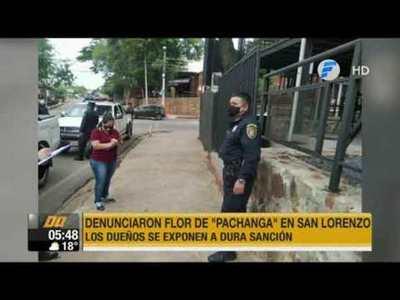 Flor de 'pachanga' en plena pandemia en San Lorenzo