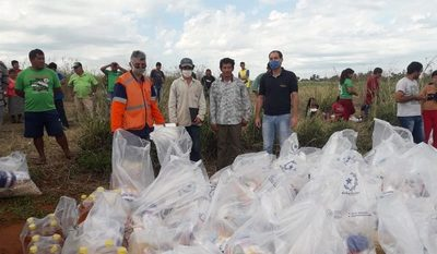 Gobernación asiste con alimentos  a familias indígenas de Itakyry – Diario TNPRESS